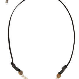 SAINT LAURENT - Patti beaded suede necklace