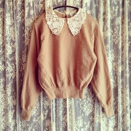 VINTAGE Boutiqur888 - lace knit