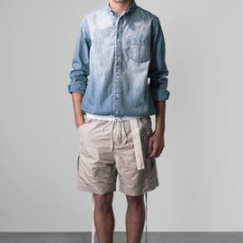 sacai - Denim button-down shirt
