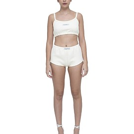 MY MUM MADE IT pty ltd - Cream Quilted Tube Top & Shorts Set