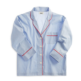sleepy jones - Marina Pajama Shirt Blue End on End