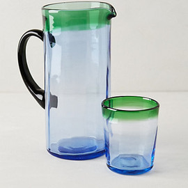 Anthropologie - Wainscoted Pitcher and Tumbler