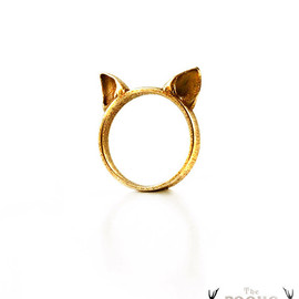 The Rogue And The Wolf - Gold Cat Ears Ring