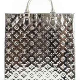 louis vuitton - louis vuitton...miroir sac plat in silver