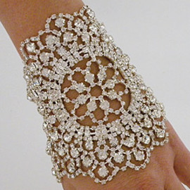 Jeweled Nouveau Bouquet Cuff