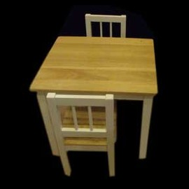 Rubberwood Desk and Chairs (Thailand)