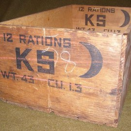 "U.S.ARMY - WWII Field ""K"" ration wooden crate"