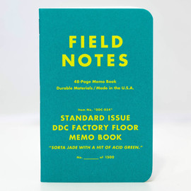 Draplin Design Co. - FIELD NOTES - Standard Issue DDC Factory Floor Memo Books
