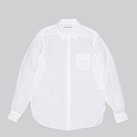 OLDMAN'S TAILOR - Regular Collar Linen Shirts L/S-White