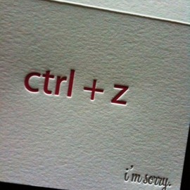 ctrl+Z,I'm sorry card