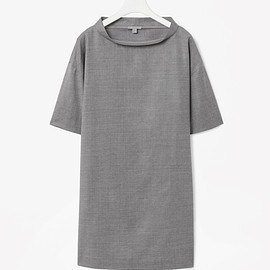 COS - Raised-neck wool dress
