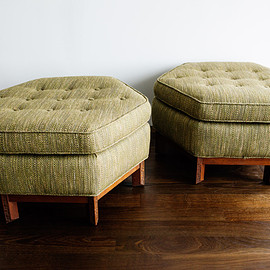 ottomans in mahogany / frank lloyd wright