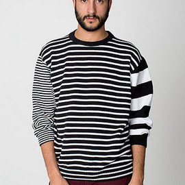 American Apparel - Recycled Cotton Mixed Stripe Pullover