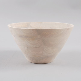 BROSTE - BOWL LAIDE MANGO WOOD 30CM - BLEACHED NATURAL