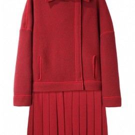 KENZO - PLEATED SKIRT COAT