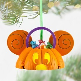 Disney - Mickey Mouse Ear Hat Pumpkin Light-Up Ornament