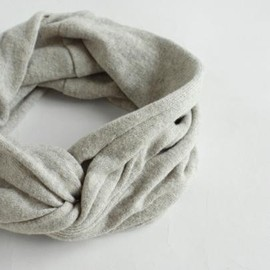 evam eva - recycled cotton linen turban