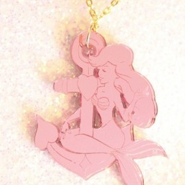 I Love crafty - I Love crafty/Ahoy Sailor Necklace/イカリとピンクの人魚ネックレス