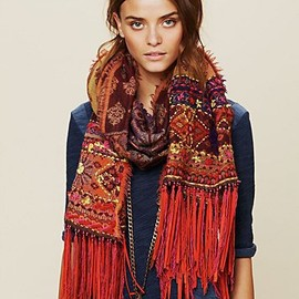 Free People - Leather Fringe Scarf