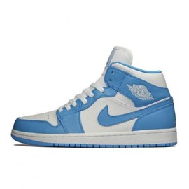 NIKE - NIKE AIR JORDAN 1 MID WHITE/UNIVERSITY BLUE-WHITE