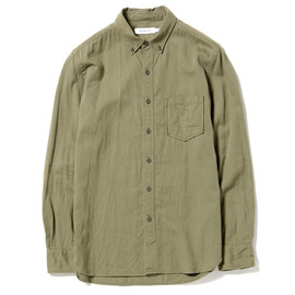 nonnative - DWELLER B.D. SHIRT - COTTON CHINO CLOTH VEGETABLE DYED / OLIVE