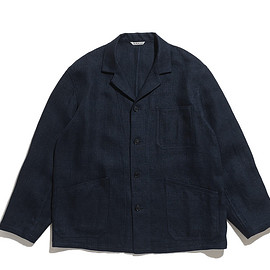 AURALEE - Linen Double Face Blouson-Dark Navy