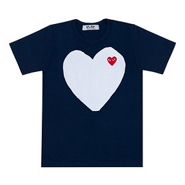 COMME des GARCONS - Play Navy T-Shirt