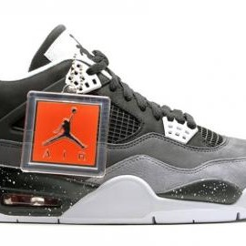 Nike - NIKE AIR JORDAN IV RETRO BLACK/WHITE-COOL GREY- PURE PLATINUM