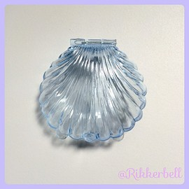 plamode - Shell Plastic Candy Box M Blue