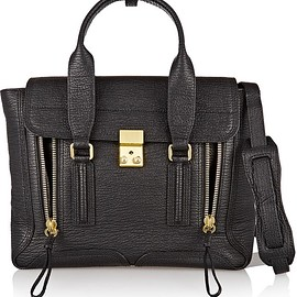 3.1 Phillip Lim - The Pashli medium textured-leather trapeze bag