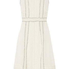 Alice + Olivia - Maelyn crochet-trimmed embroidered chiffon dress