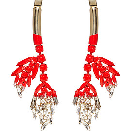 MARNI - Resort 2016 Red Jeweled Drop Earring