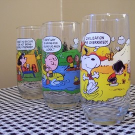 camp snoopy glass
