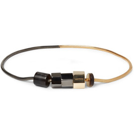 Lanvin - GOLD AND RUTHENIUM-PLATED BRACELET
