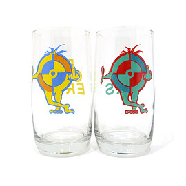 POWERS - F.U. TARGET DRINKING GLASSES 2P SET
