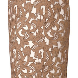 Burberry Prorsum - Embroidered Cotton Gabardine Pencil Skirt