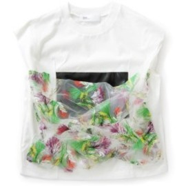 TOGA - Supima Jersey Top (white/flower)