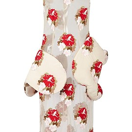 SIMONE ROCHA - FW2015 Sleeveless Tapestry Floral Dress