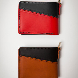 RE.ACT LEATHER WORKS - Liscio Leather Bicolor Basic Wallet