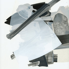 Vince Contarino - Acoustic No. 7, 2010, acrylic, flashe, tissue, tyvek on paper