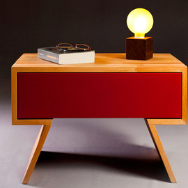 "nordarchitectdesign - solid panel wood nightstand ""skuffu"""