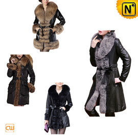 CWMALLS - Women Sheepskin Fur Coat CW148120 - cwmalls.com