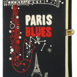Olympia Le-Tan - Paris Blues emboidered clutch