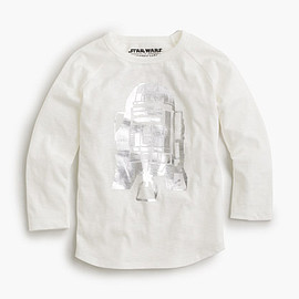 J.CREW - STAR WARS FOR CREWCUTS METALLIC R2-D2 T-SHIRT