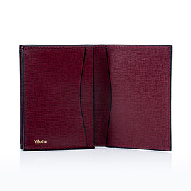 Valextra - Business Card holder (Wine Red)