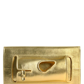 PERRIN PARIS - MANCHETTE LAMINATED LEATHER CLUTCH