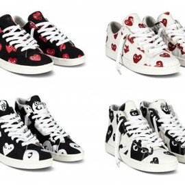 CONVERSE - COMME DES GARÇONS PLAY × CONVERSE PRO LEATHER COLLECTION