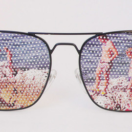 BLESS - Nerd Glasses with Beach print
