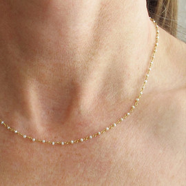 Sticks and Stones - パールチェーンのネックレス 14k yellow gold filled chain