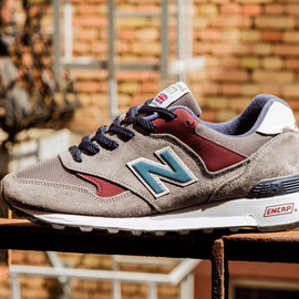 "New Balance - New Balance 577 D ""Grey/Burgundy"""